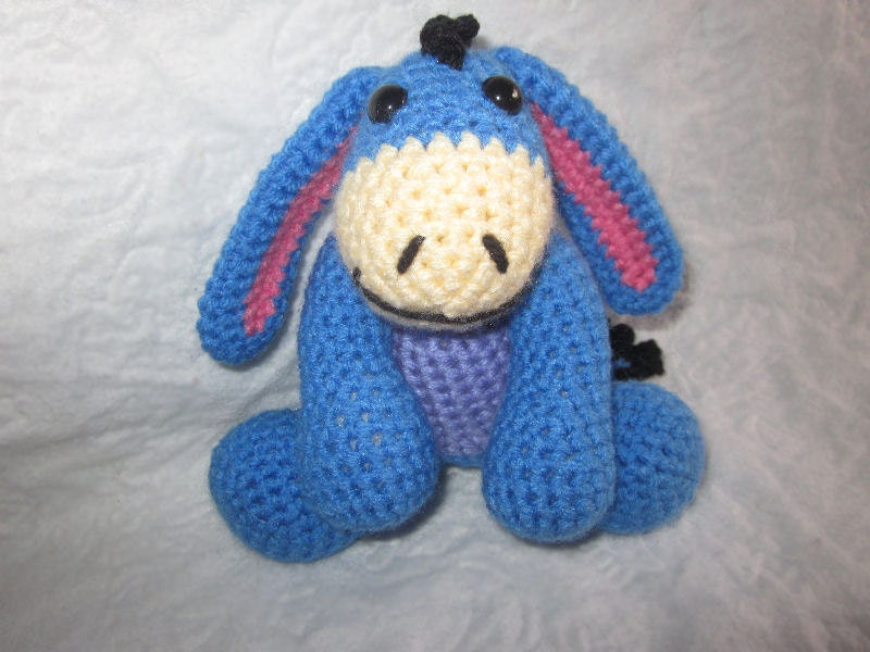 Crochet Patterns Etsy : Eeyore the Crochet Pattern by MelissasPatterns on Etsy