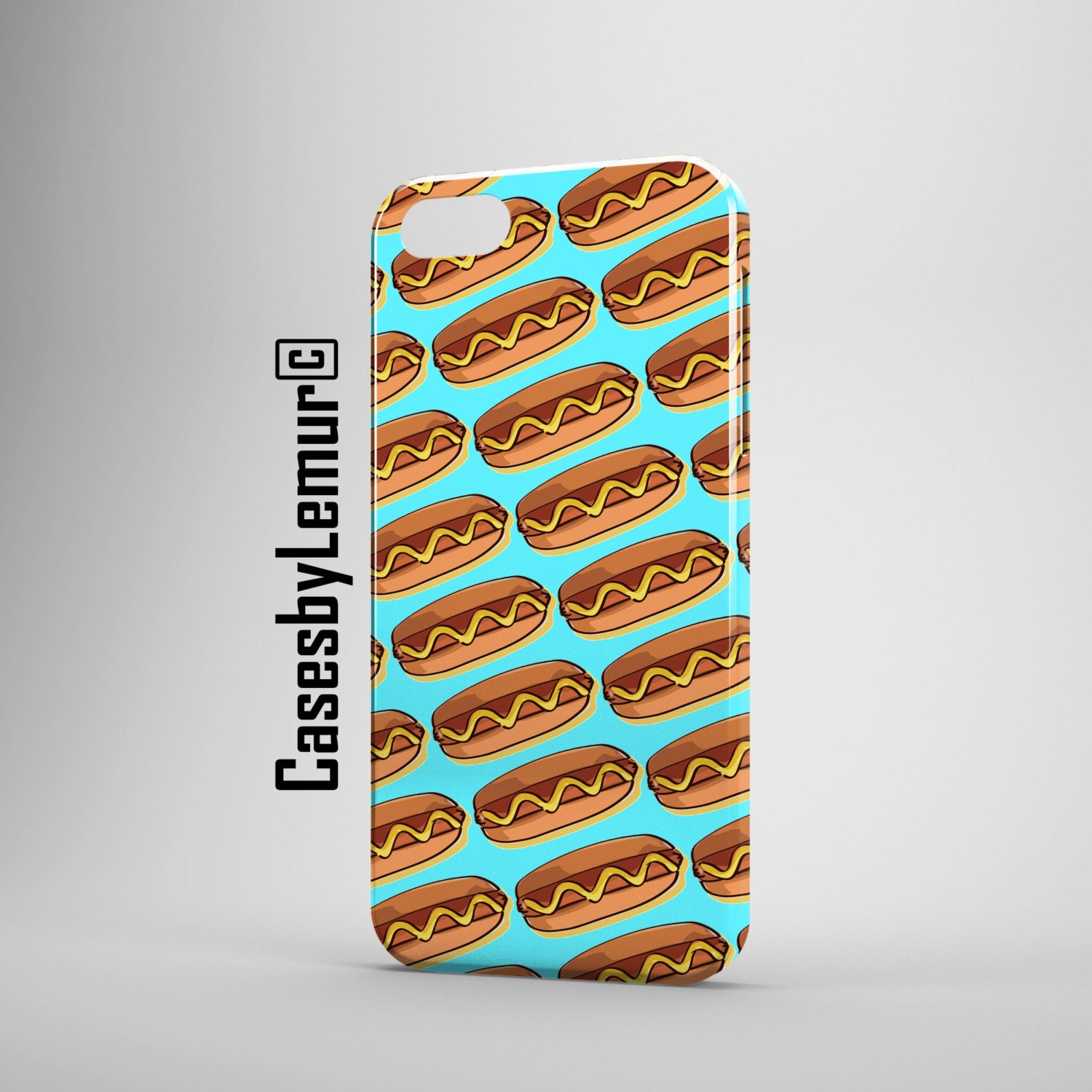 FOOD PRINT Iphone 6 case Food Art Iphone 5 case Fast Food Iphone 5C case Food Phone Case Hot Dog Iphone 5s case Pop Art Iphone 6 plus case