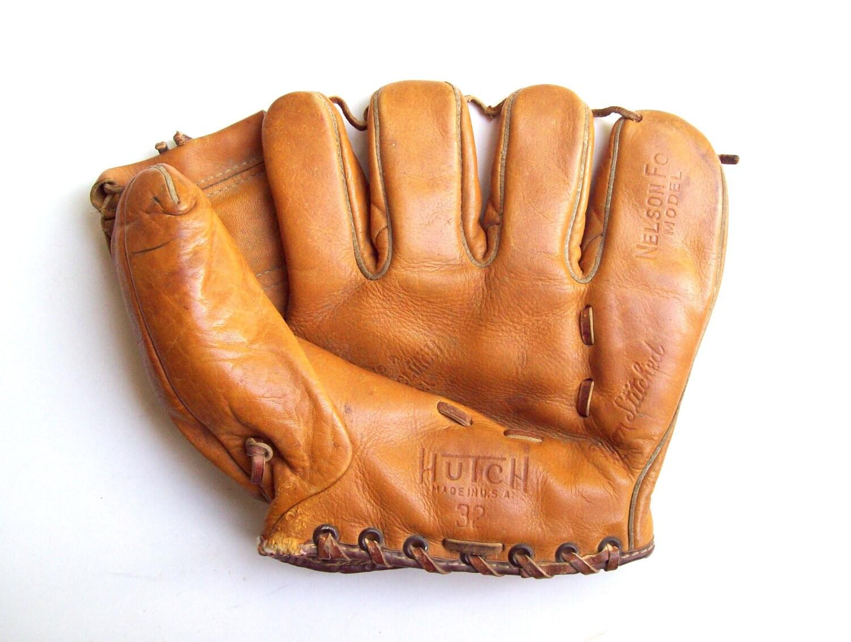 Vintage Hutch Baseball Glove 1950's Nelson Fox - TheSame
