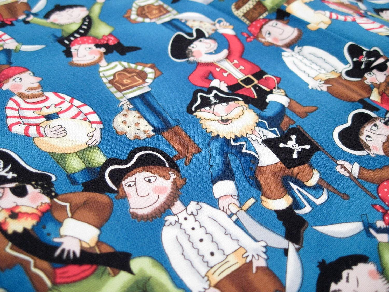 Pirate fabric fabric yardage childrens fabric by chaossupplies for Kids pirate fabric