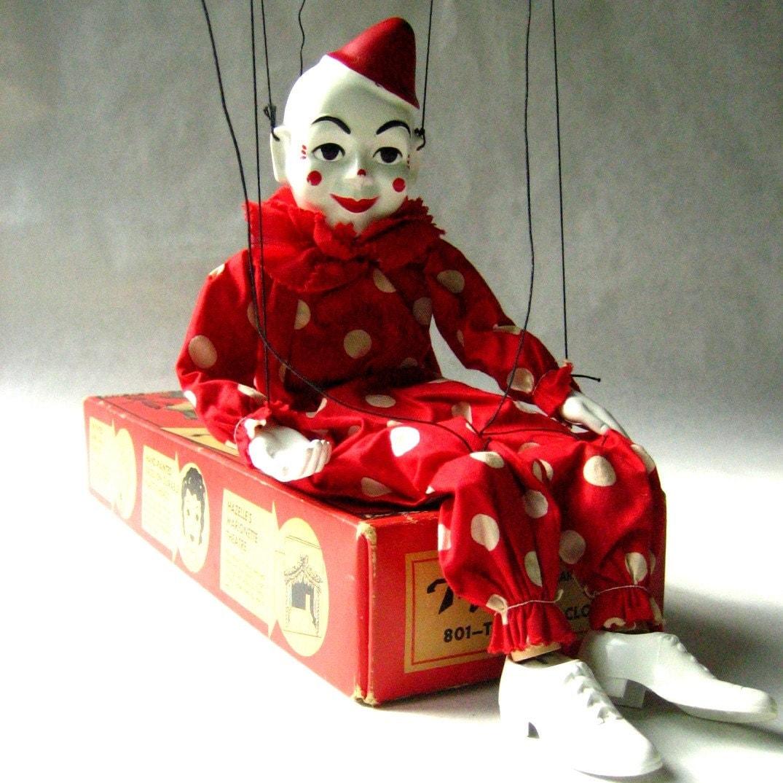 Vintage Circus Clown Marionette Puppet | Marionette puppet, Puppets, Vintage circus