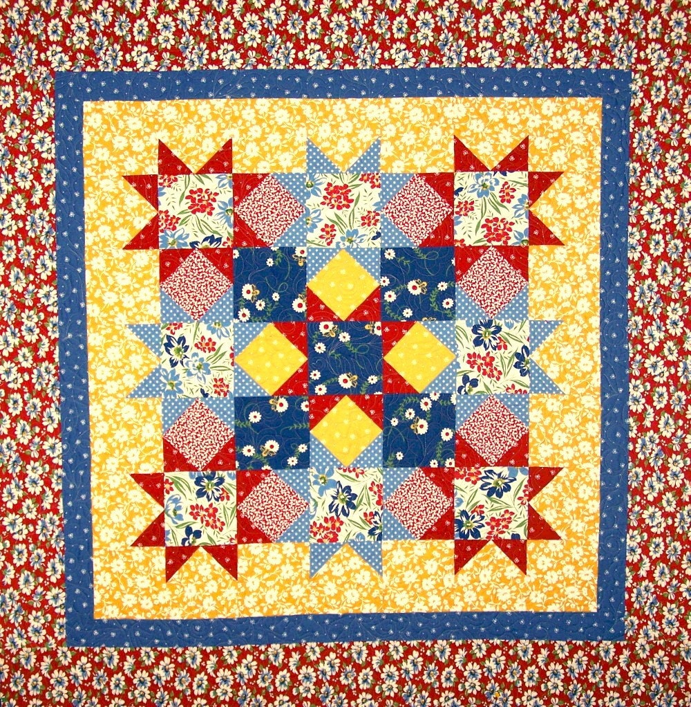 Magic Stars Quilt Pattern SO Fast and Easy PDF by feedsax on Etsy