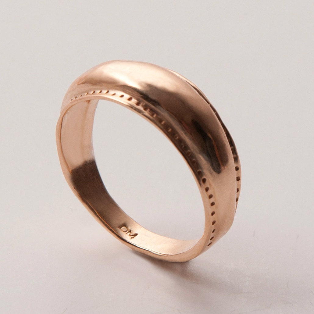 Viking Bands: Viking Ring No.2 14k Rose Gold Ring Unisex Ring By Doronmerav