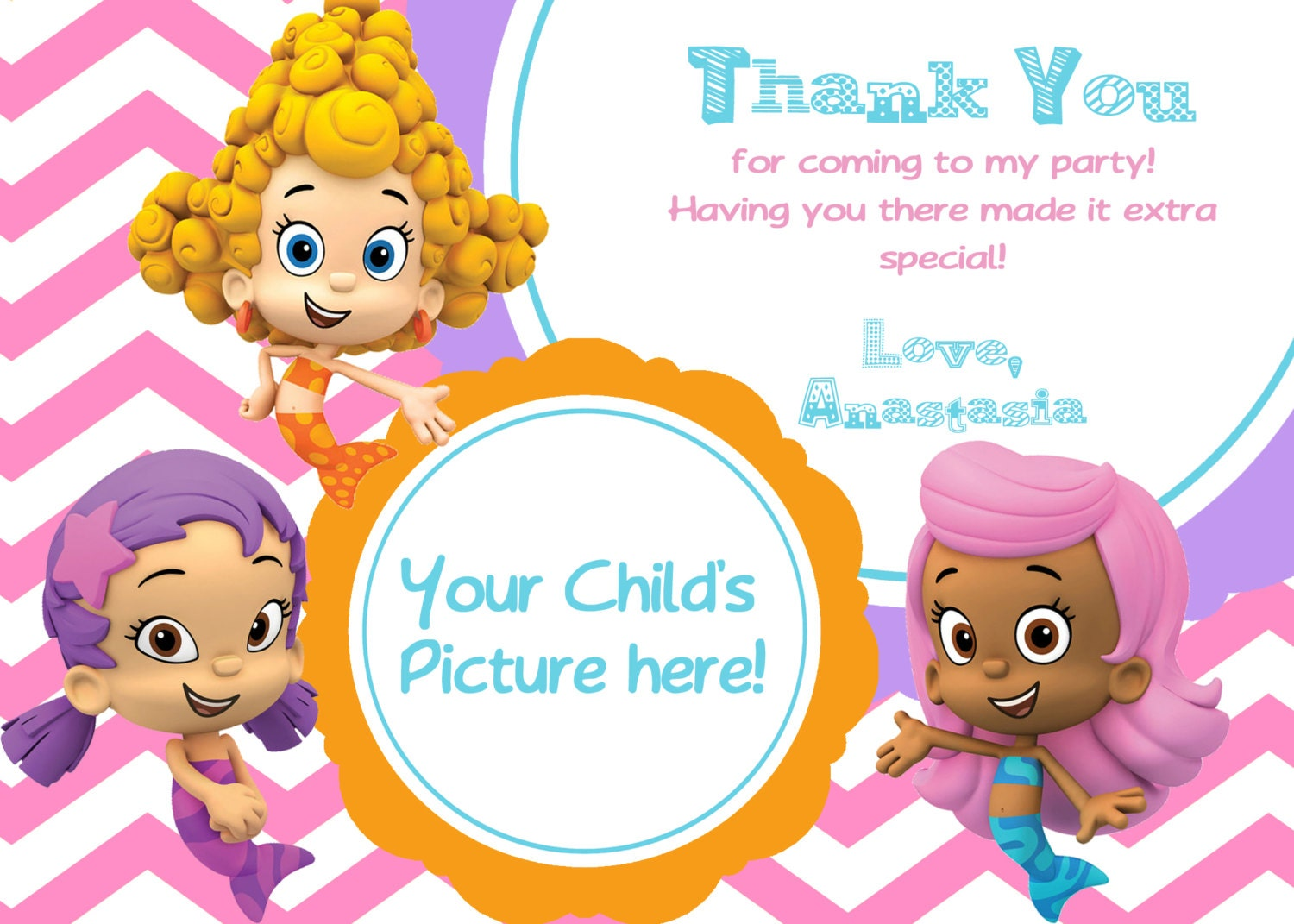 Bubble Guppies Birthday Invitations Template with adorable invitations ideas