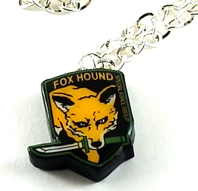 MGS Fox Hound Metal Gear Solid Necklace