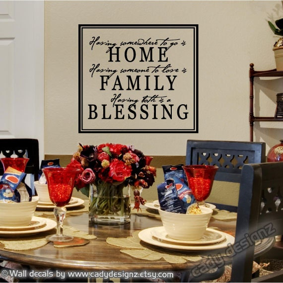 Kitchen Blessing Wall Decor: Items Similar To Home Family Blessing