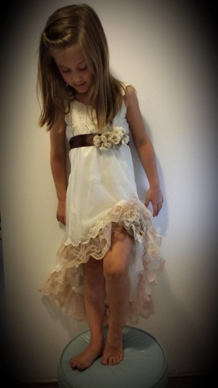 Shabby chic dress wedding bridesmaid flower by for Wedding dresses shabby chic