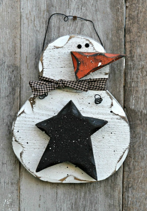 Unavailable listing on etsy for Rustic snowman decor