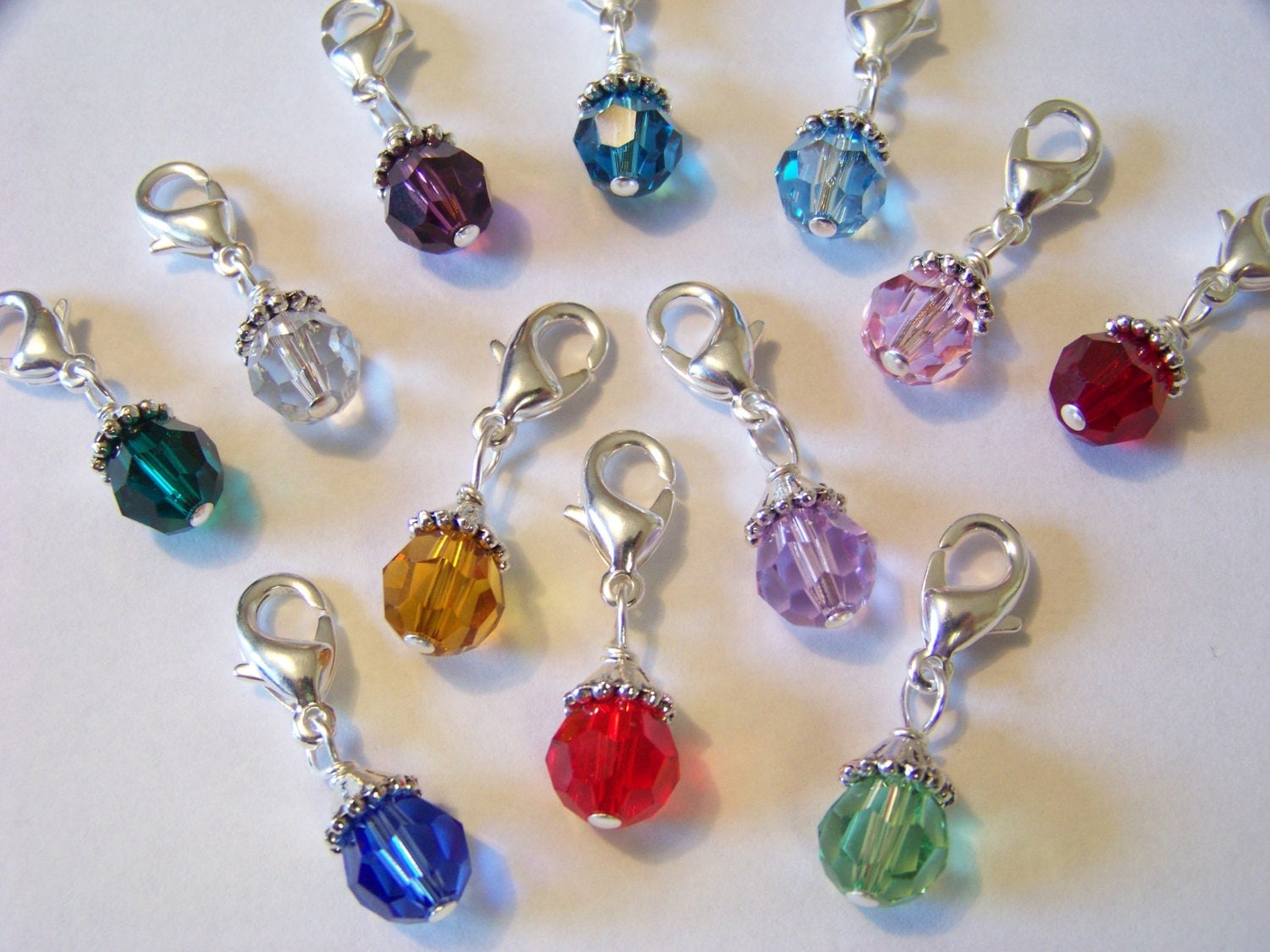 birthstone charm dangles to fit any brand of floating by