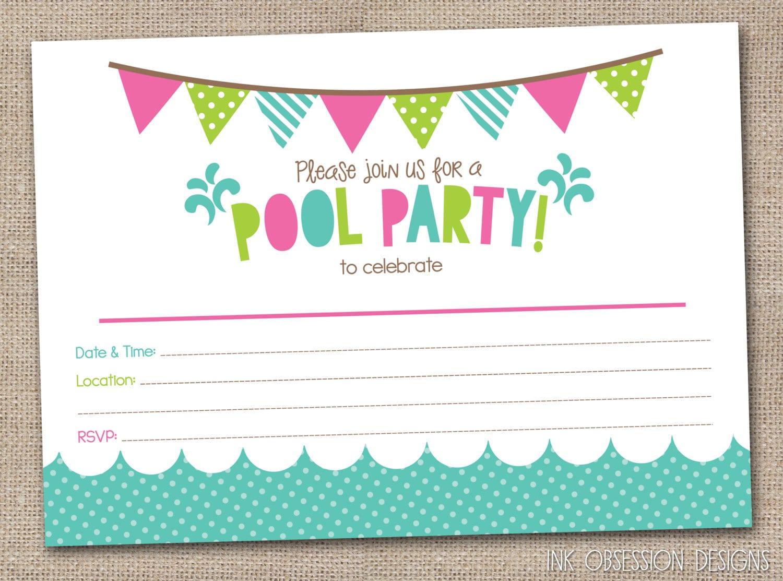 Birthday Party Invitation Templates Free Printable – 16th Party Invitation Templates