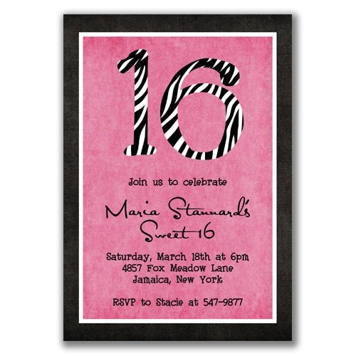 16th Birthday Invitation Templates Sweet Sixteen Birthday Party – 16th Birthday Invitation Wording
