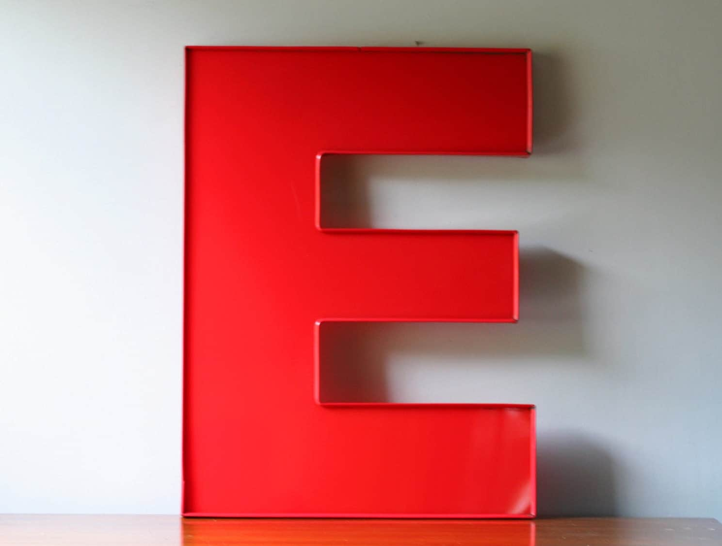 Large Vintage Red Letter E By Modishvintage On Etsy