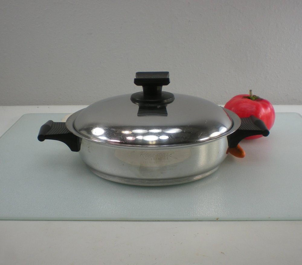 "Rena Ware Cookware 7-1/4"" Saucepan Fry Pan - Double Handle Stainless 3 ..."