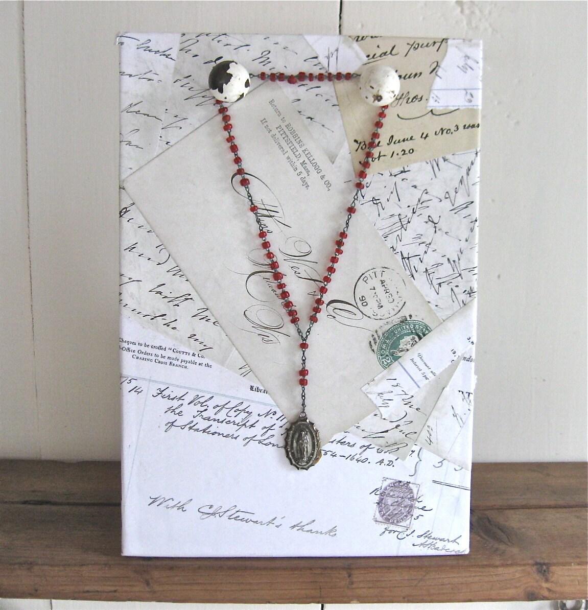 Make Your Own Jewellery Display Board: Handmade Jewelry Display Easel Jewelry Display By