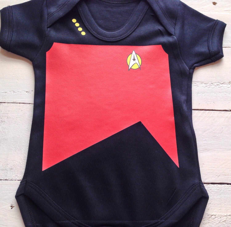 Star Trek Baby Uniform One Piece Trekkie romper Nerd Baby star trek kids Geeky Nerdy Geek Baby Clothes  Nerd Baby Clothes