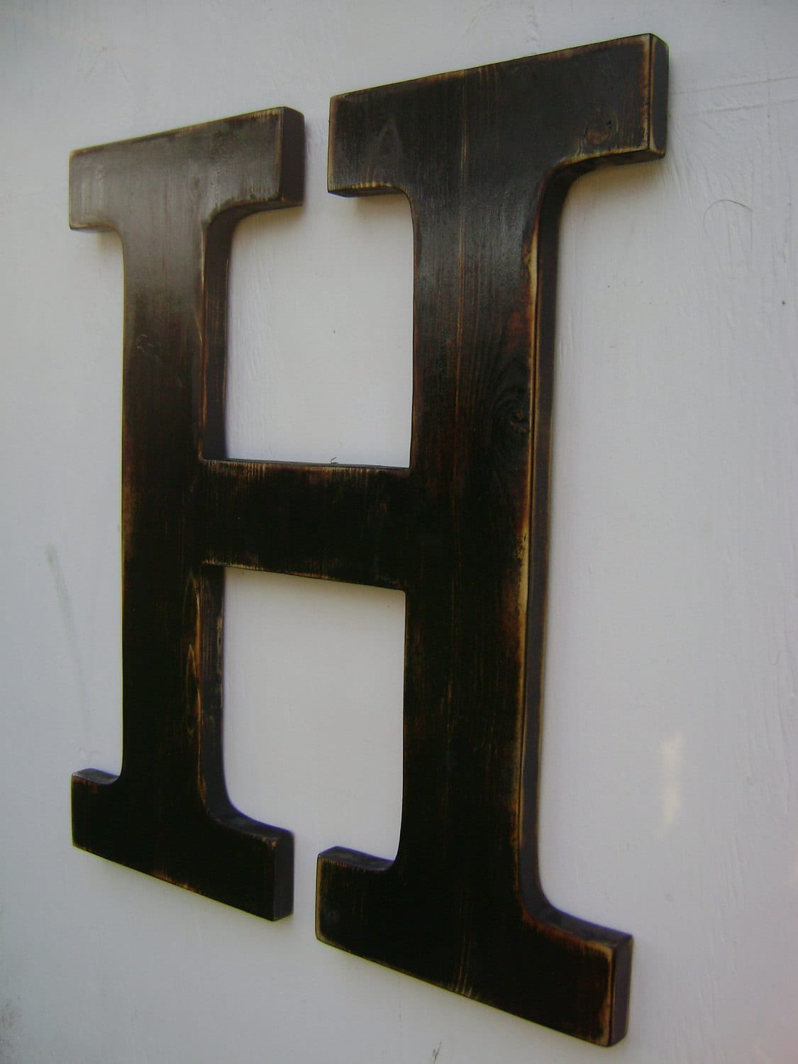 Big wall hanging wooden letter h nursery decor by for S letter decoration