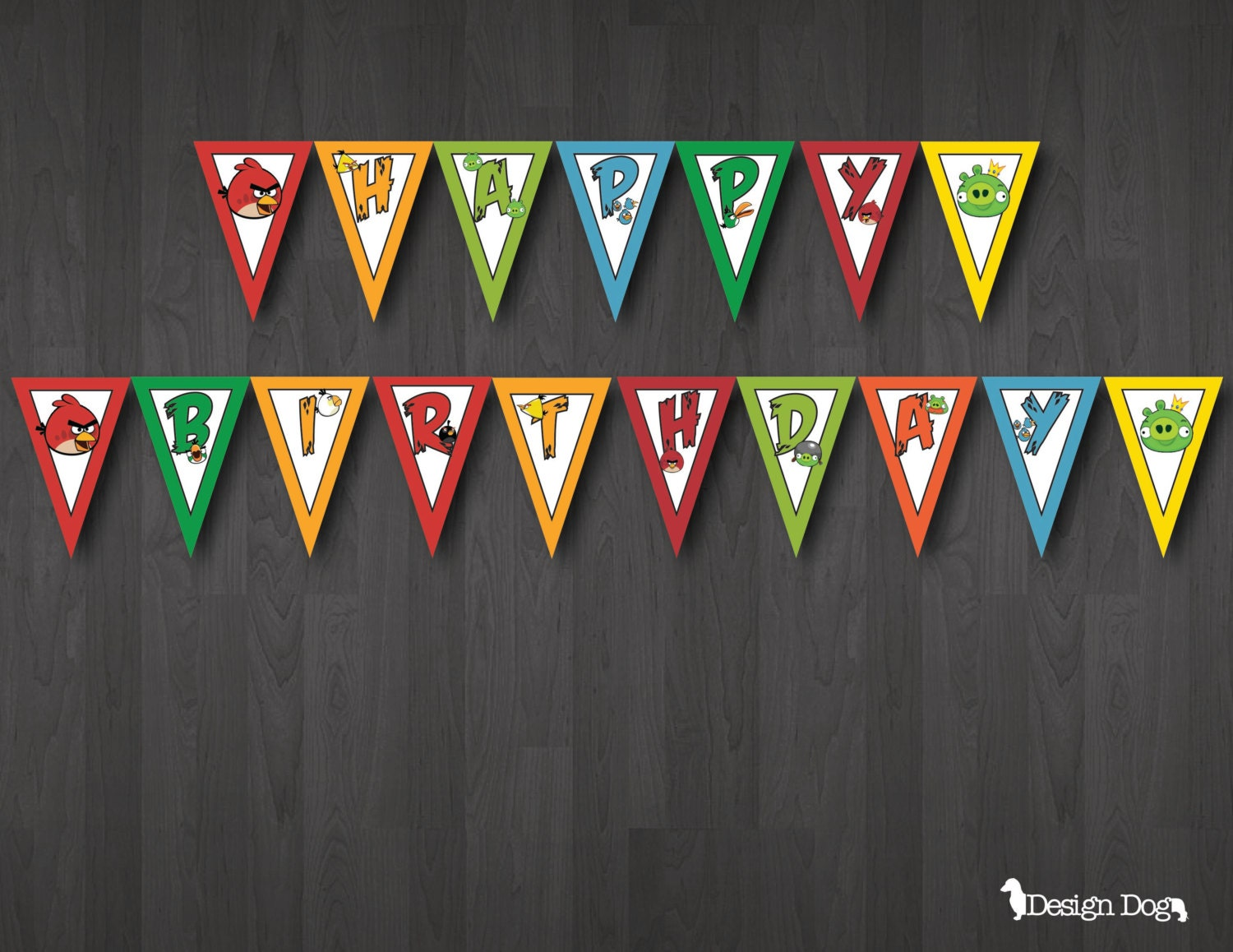 Angry Birds Birthday Banner By Thedesigndog On Etsy