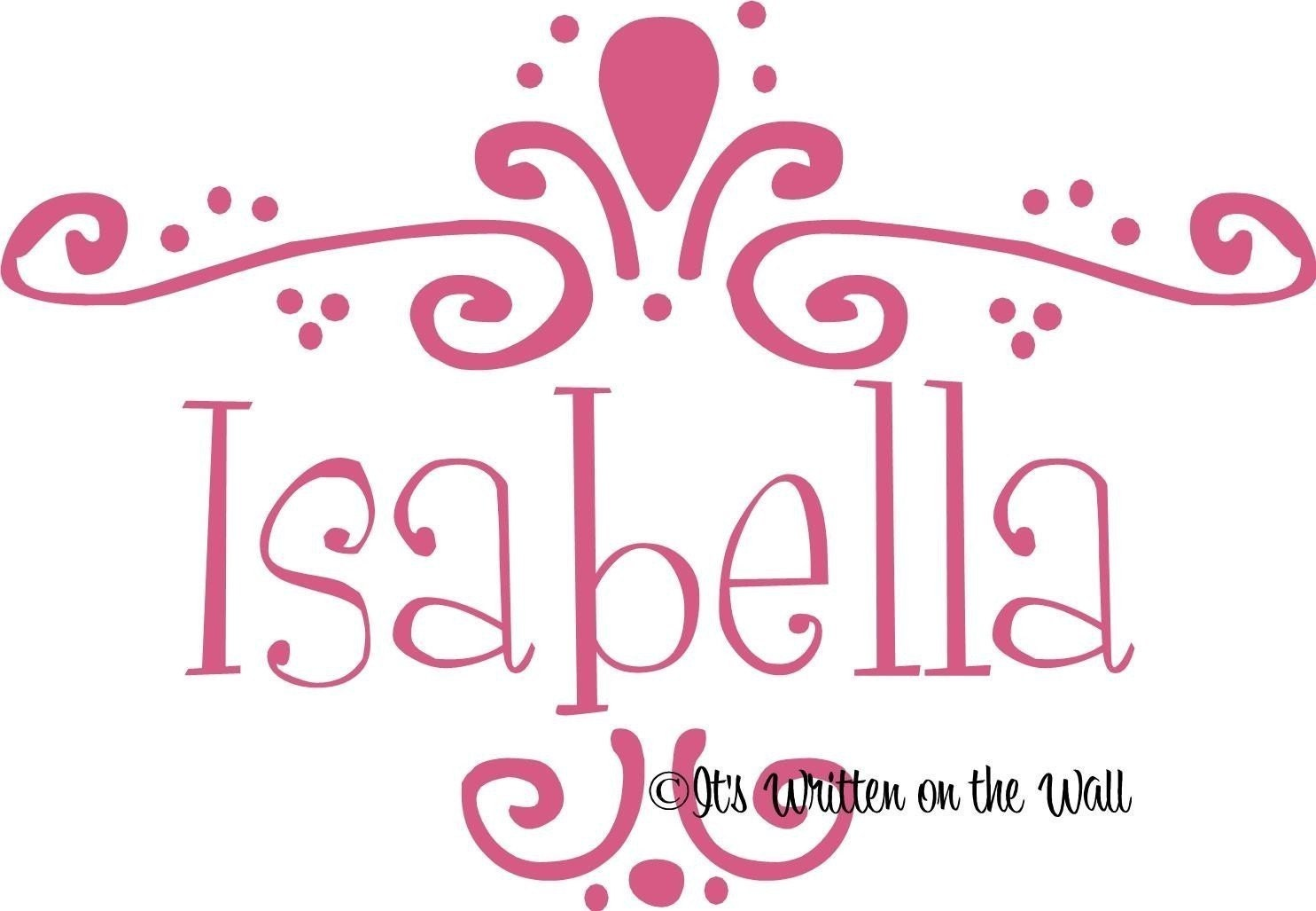 The Name Isabela Colouring Pages