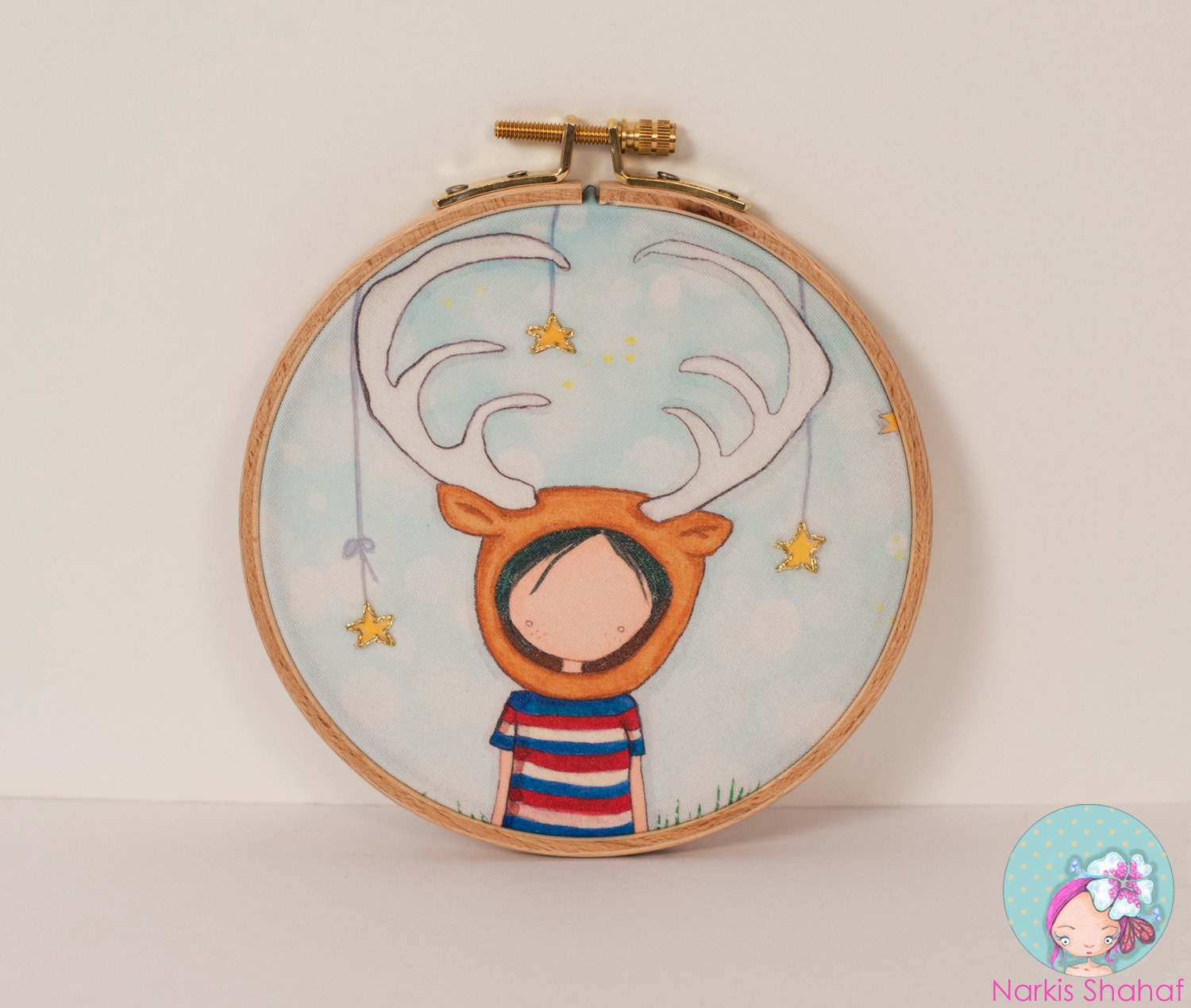 Items similar to embroidery hoop art nursery wall on etsy