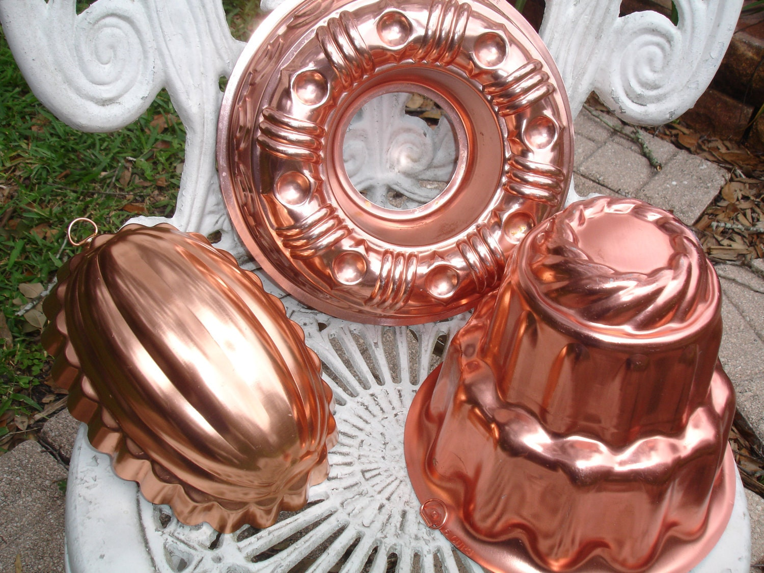 Vintage Copper Jello Mold Bundt & 3 Layers by BlessedBeyondBeelief