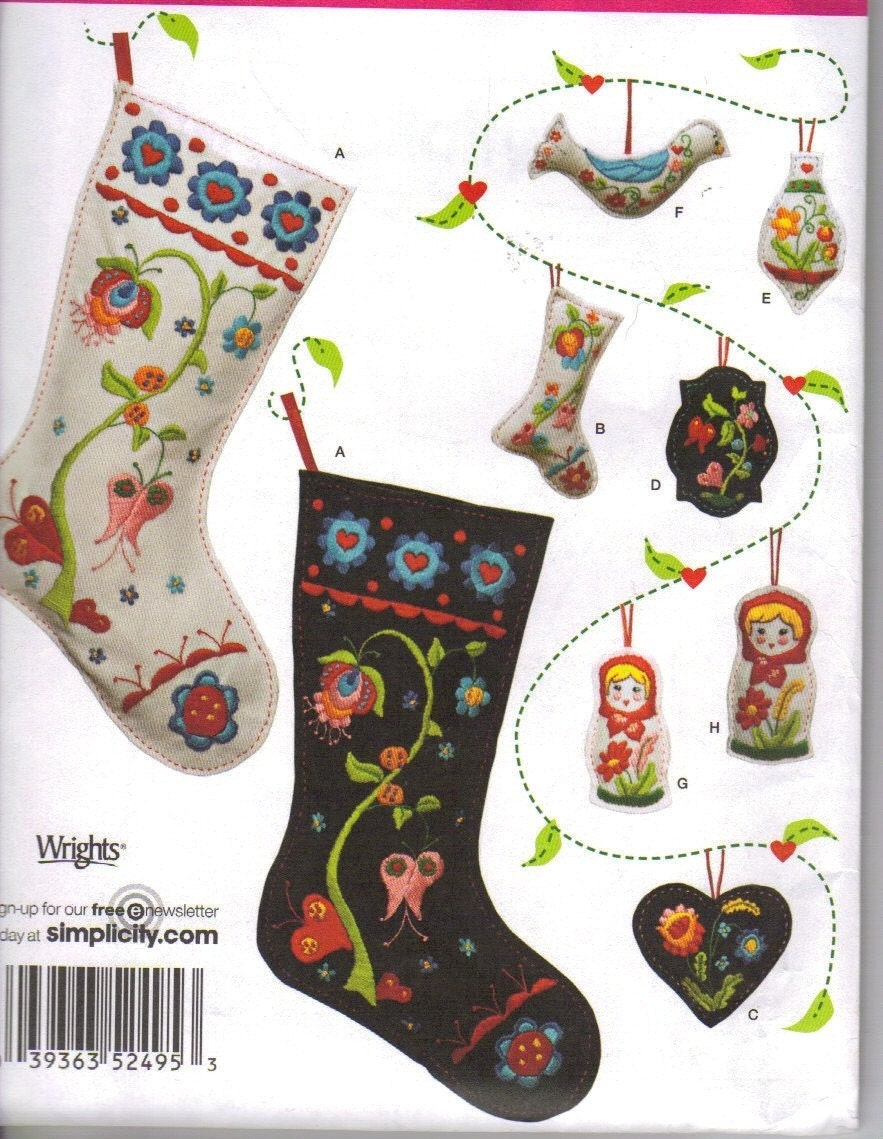 Christmas Stocking Patterns Felt Pattern Collections