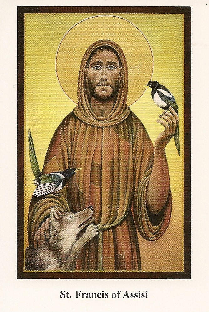 st francis of assisi prayer card shipping by therealjackchow