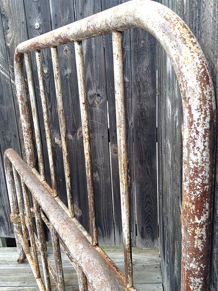 Antique Cast Iron Bed Frame By HUEisit On Etsy