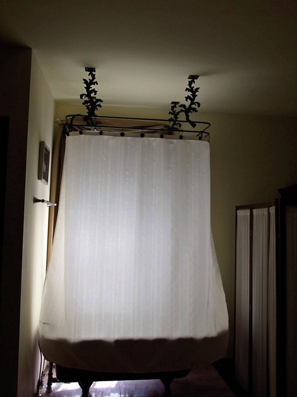 Items Similar To Custom Shower Curtain Rod For Clawfoot Tub With Shower On Etsy