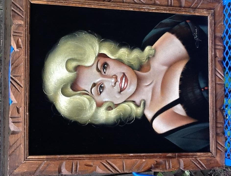 Vintage Dolly Parton Painting Black Velvet By Thesoupison