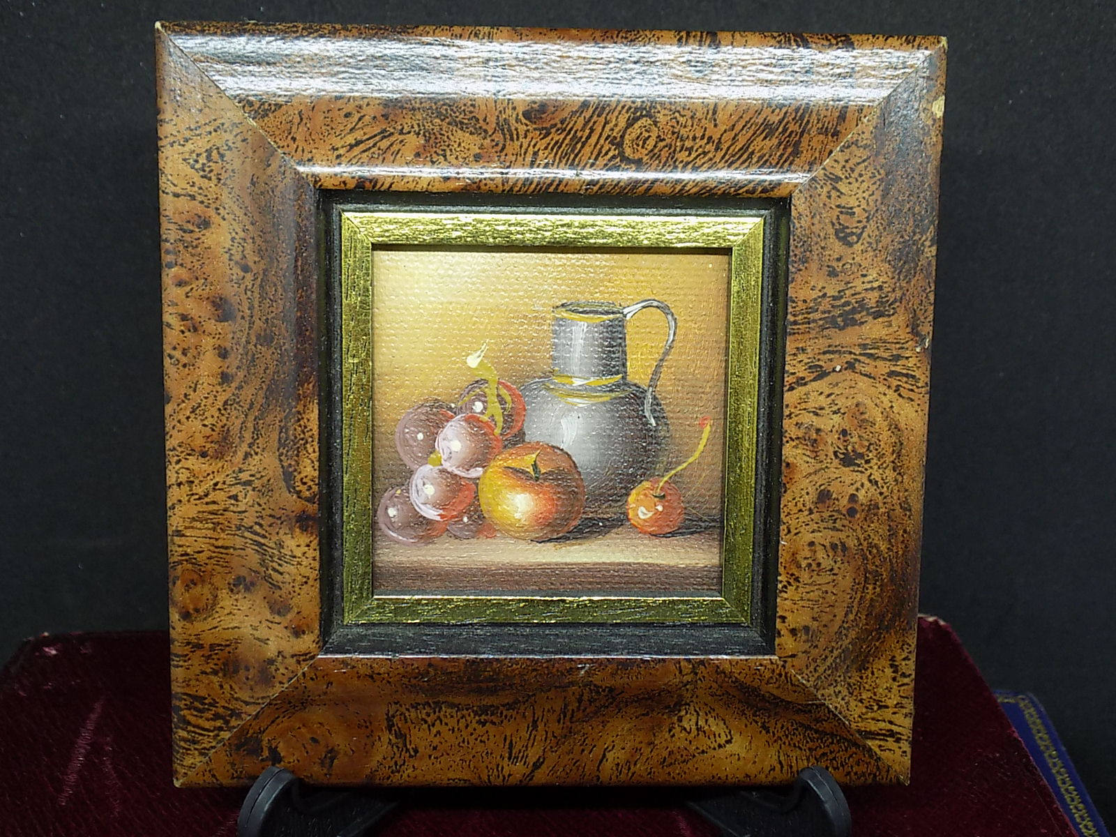 Image of Vintage Oil Painting Still Life Painting Mini Painting Picture