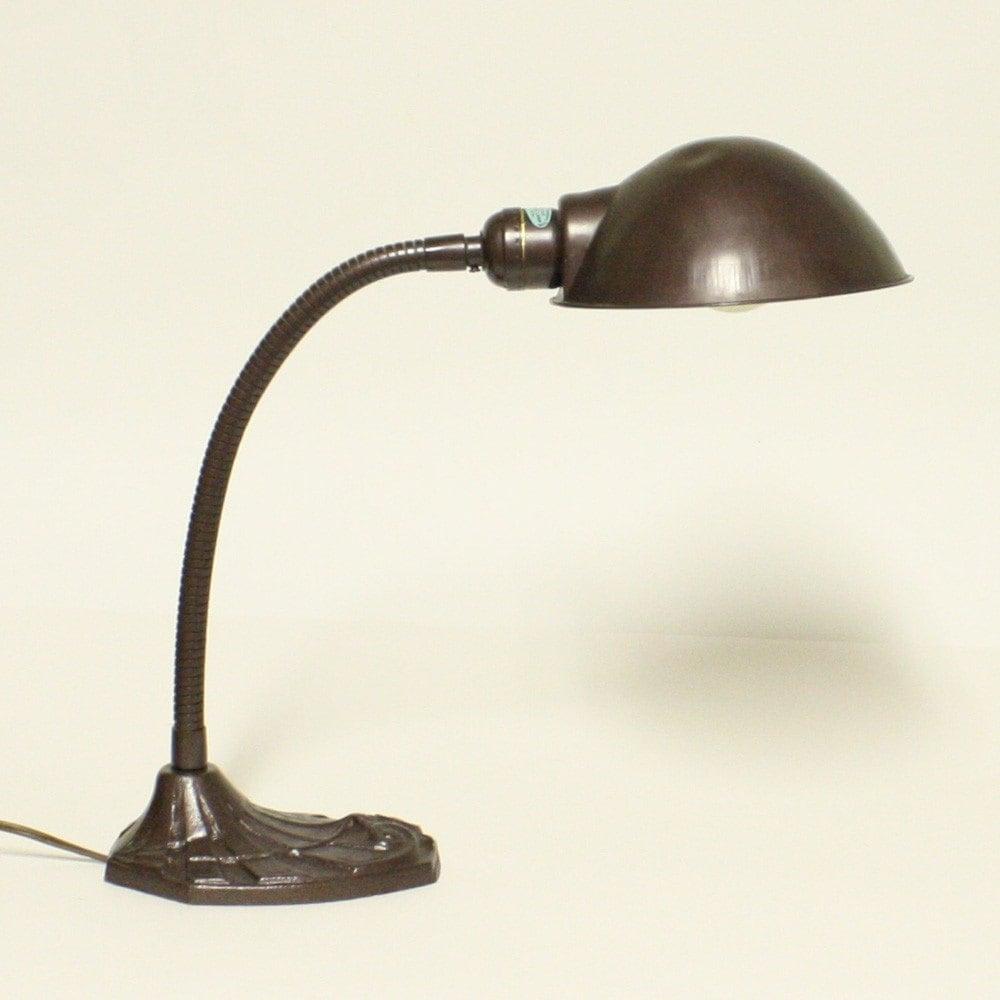 Vintage Desk Lamp Gooseneck Faries Mfg Co Task By