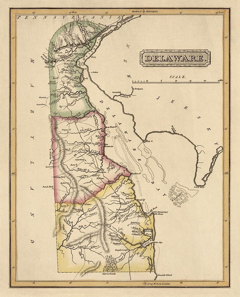 Delaware Colony Map  Wwwimgarcade  Online Image Arcade