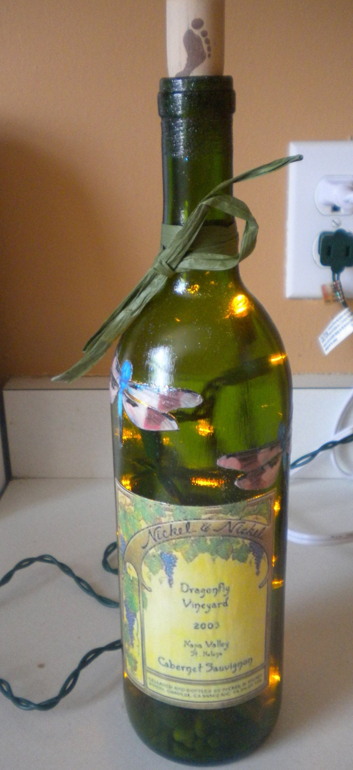 Unavailable listing on etsy for Light up wine bottles