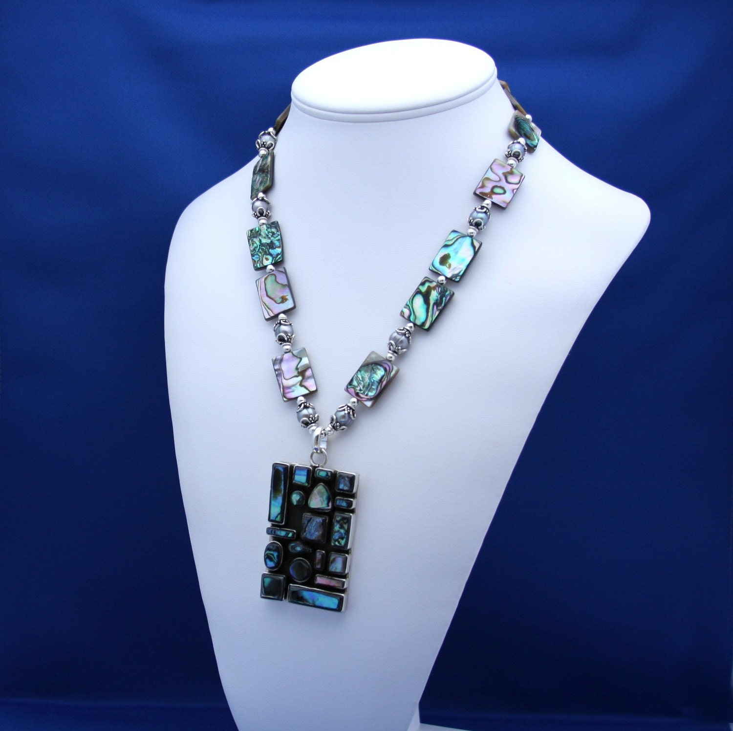 Abalone and Pearl Necklace-Abalone Dreams