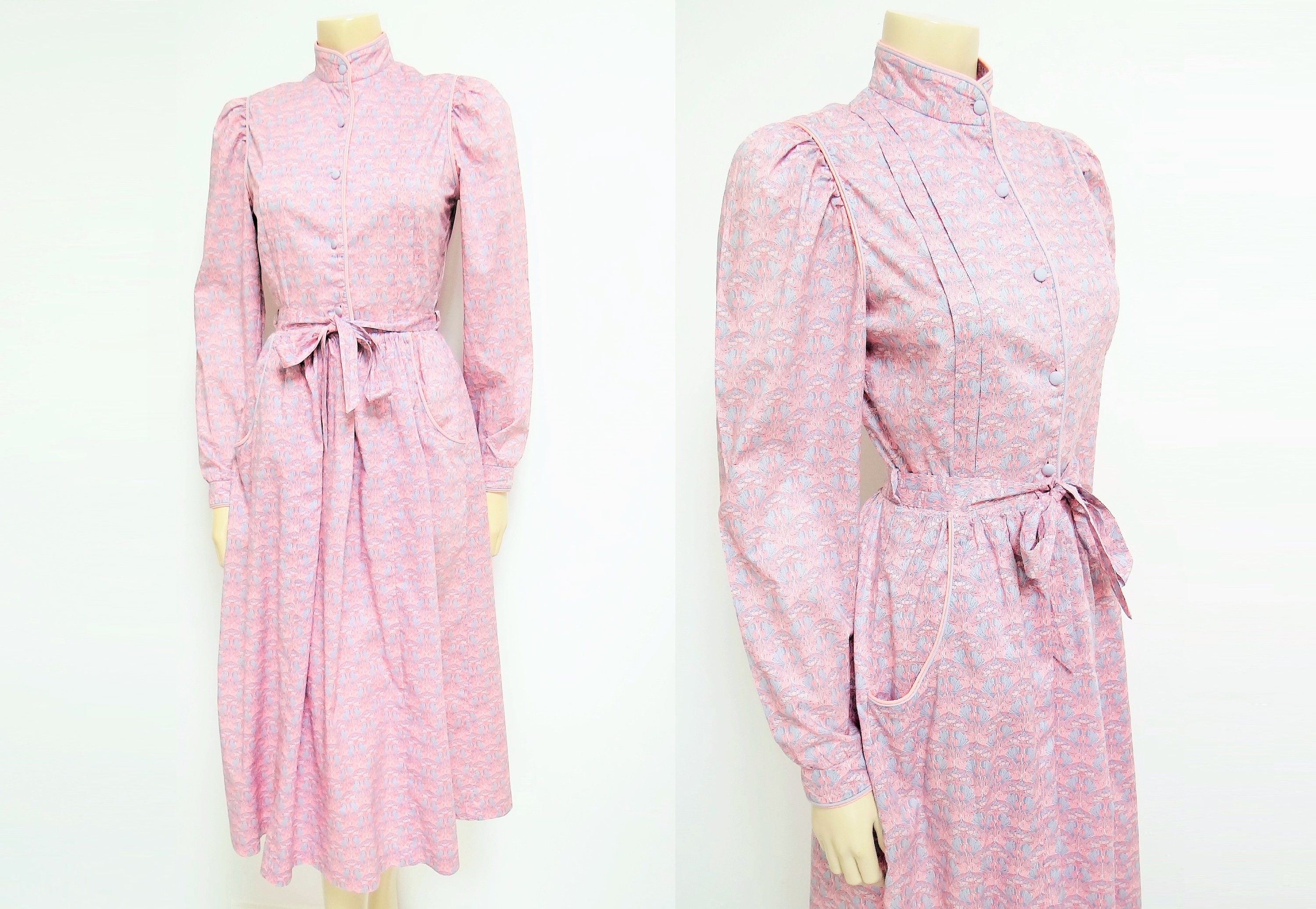 UK8 Vintage Dress Prairie Dress Bohemian Clothing Pink Dress Alternative Wedding Dress Vintage Clothes Womens Dresses Pink Art