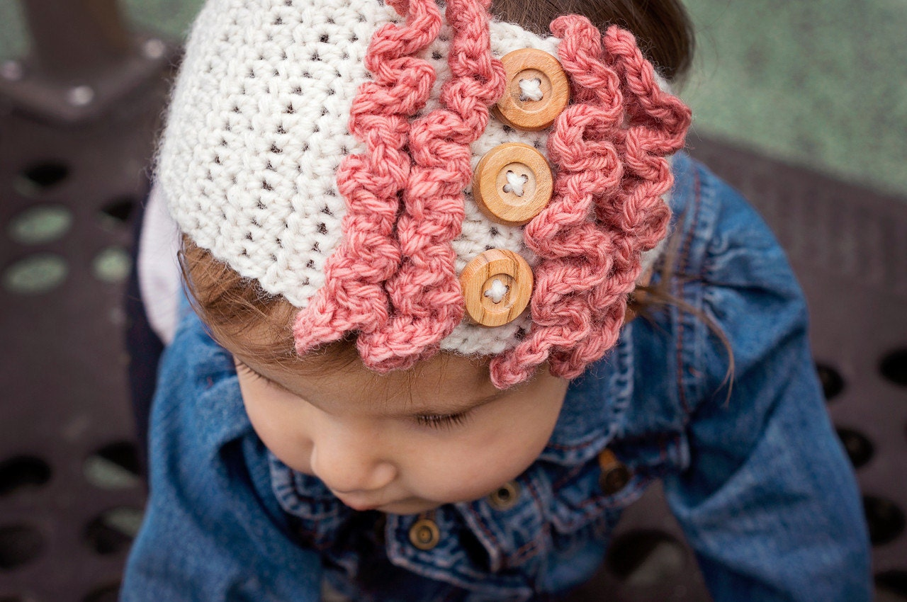 Baby Girl Espadrilles Crochet Pattern : Items similar to Crochet Baby Ear Warmer on Etsy