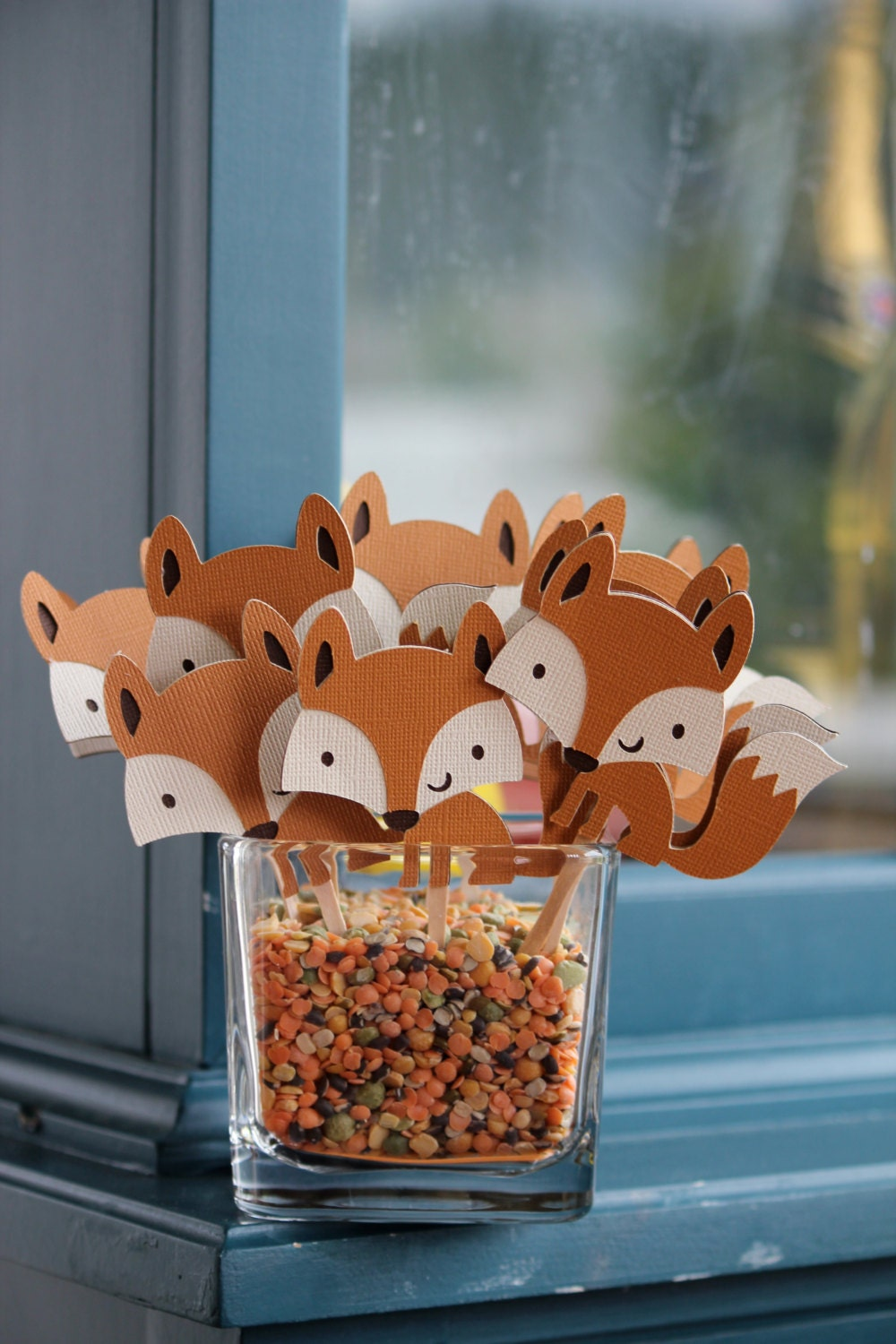 similar to fox cupcake toppers baby shower birthday room decor