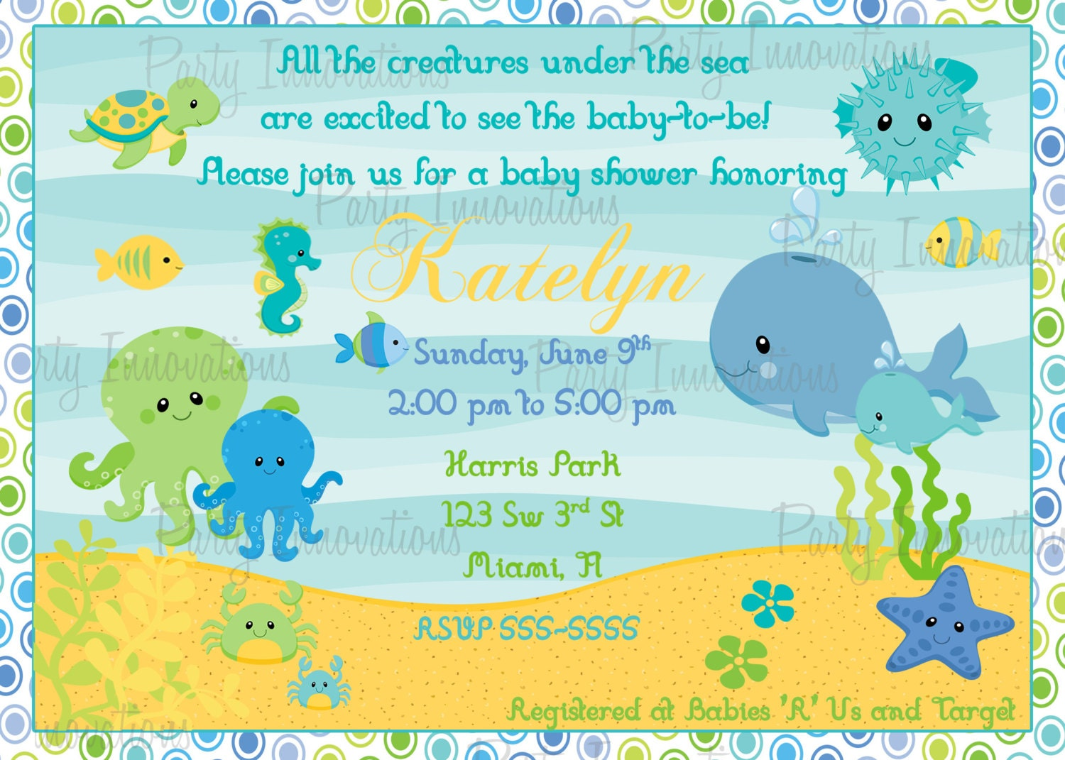 printable under the sea baby shower by partyinnovations09 on etsy