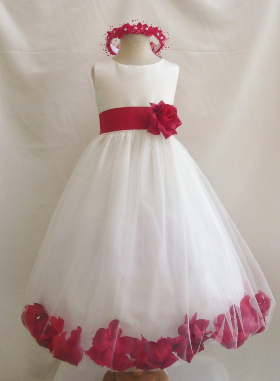 Flower Girl Dress Ivory Rose Petal Dress With By LuuniKids