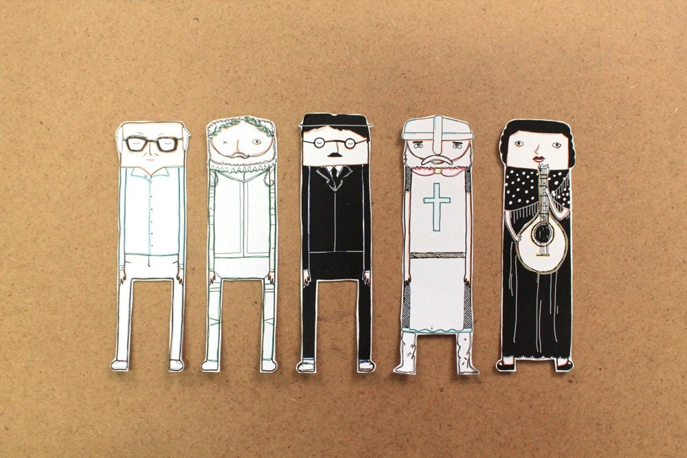 Portuguese personalities' bookmarks - OupasDesign