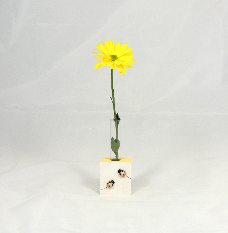 Test Tube Vase Busy Bee Mini Vase