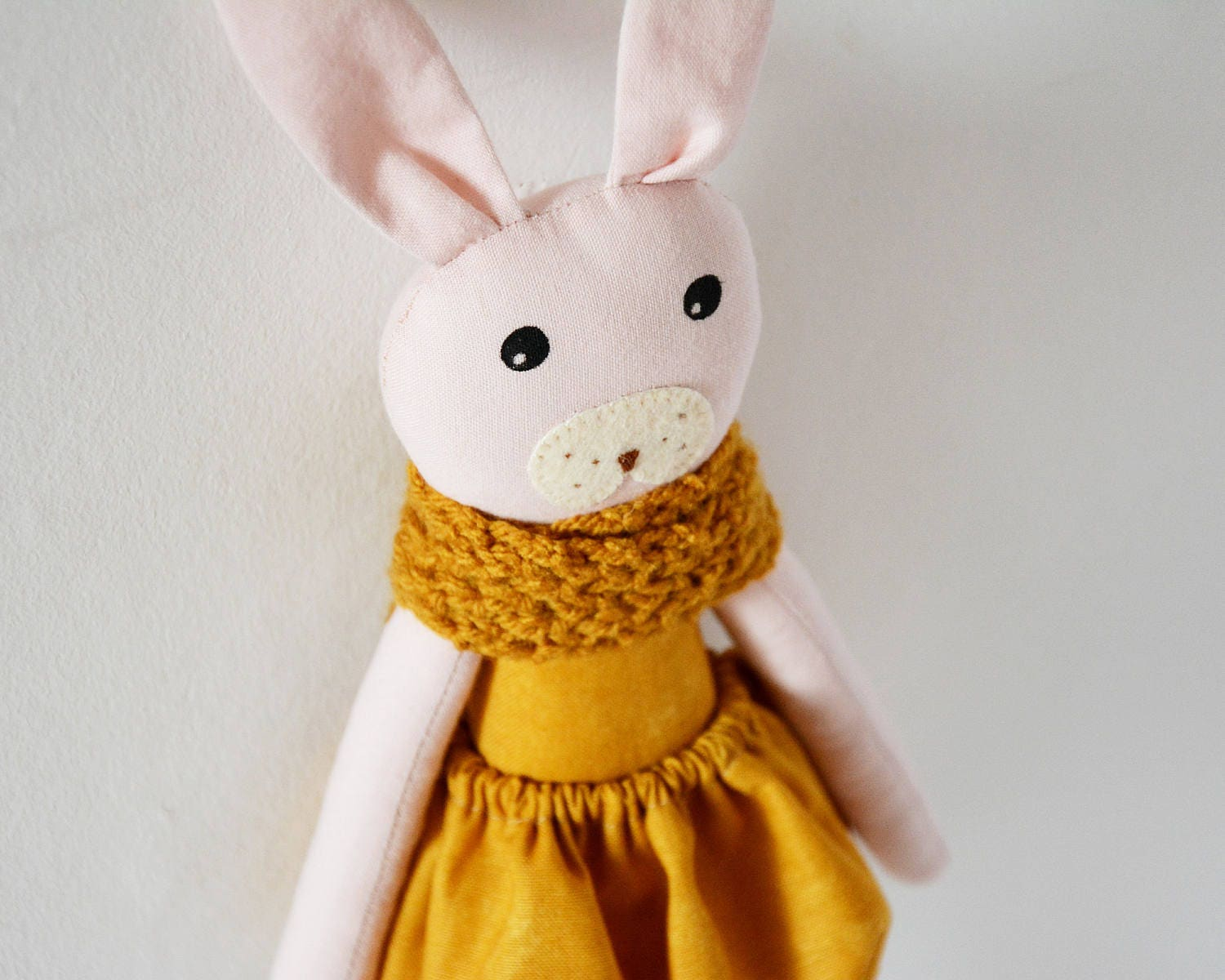 Soft toy stuffed toy animal rag doll cloth doll heirloom doll gift for kidsgift for baby Easter gift pink doll yellow doll