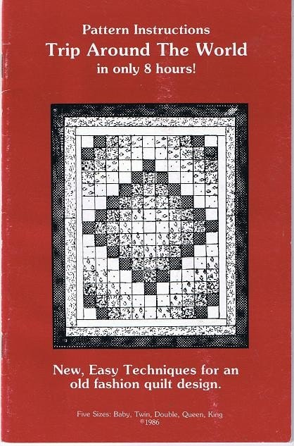 Trip Around The World Quilting Pattern To By Howtobooksandmore