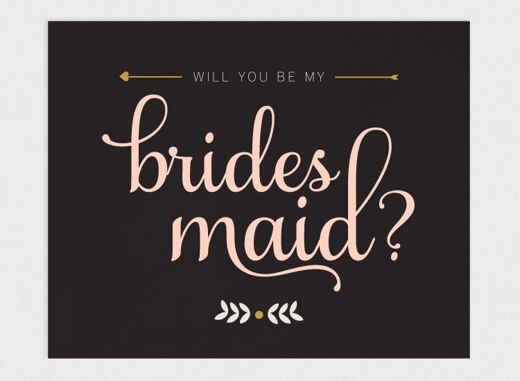 Versatile image for will you be my bridesmaid cards printable