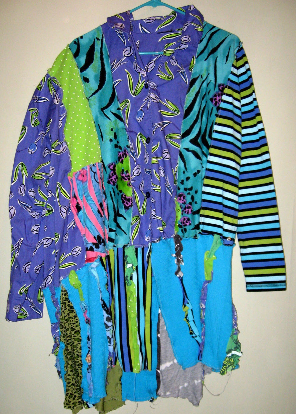 Purple and turquoise oversized tunic nothing matches SALE