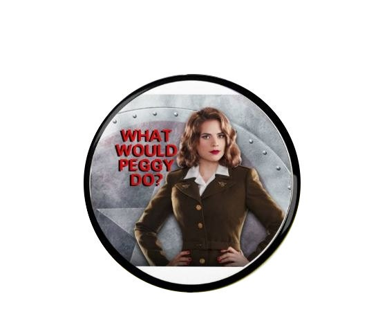 Agent Peggy Carter  What Would Peggy Do   Badge  BadgesFridge Magnets  Quotes  Agent Carter