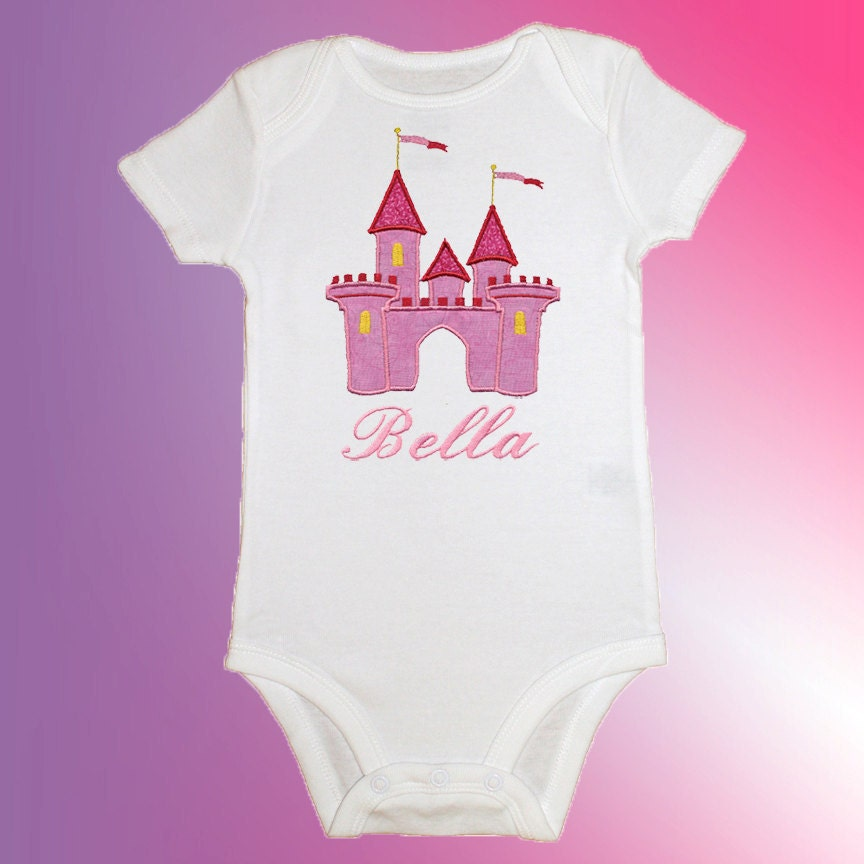 Bodysuit Baby Clothes Personalized Applique by