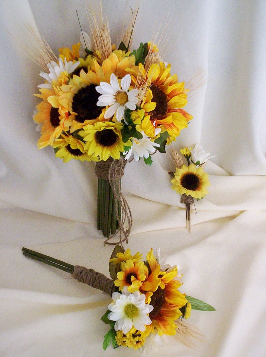 Fall Bridal Bouquets With Sunflowers Wedding Flowers Viewing Gallery