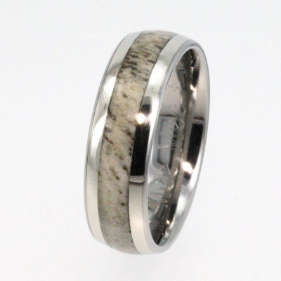 14K Gold Titanium Antler Wedding Band Perfect By Jewelrybyjohan