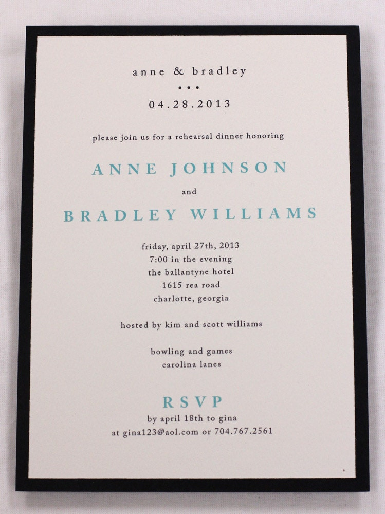 Rehearsal Dinner Invitations Etsy was very inspiring ideas you may choose for invitation ideas